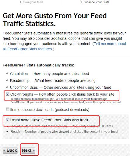 feedburner istatistik ayarları