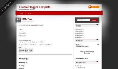 iDream Blogger Teması
