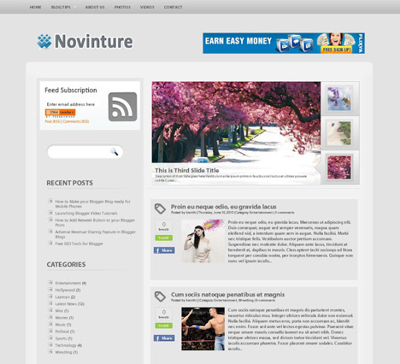 Novinture Blogger teması