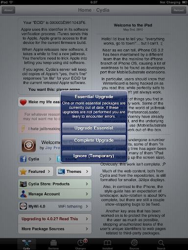 เทคนิคการ Jailbreak iPad iOS version 4.2.1 ด้วย greenpois0n Ipad031
