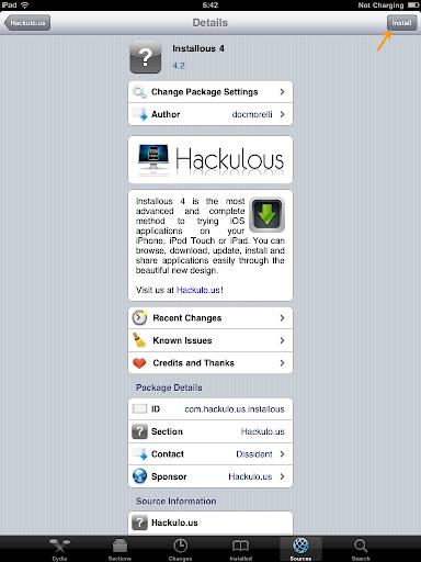 เทคนิคการ Jailbreak iPad iOS version 4.2.1 ด้วย greenpois0n Ipad045