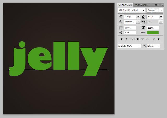 เทคนิคการสร้างตัวอักษรแบบ Plastic Jelly Pj03