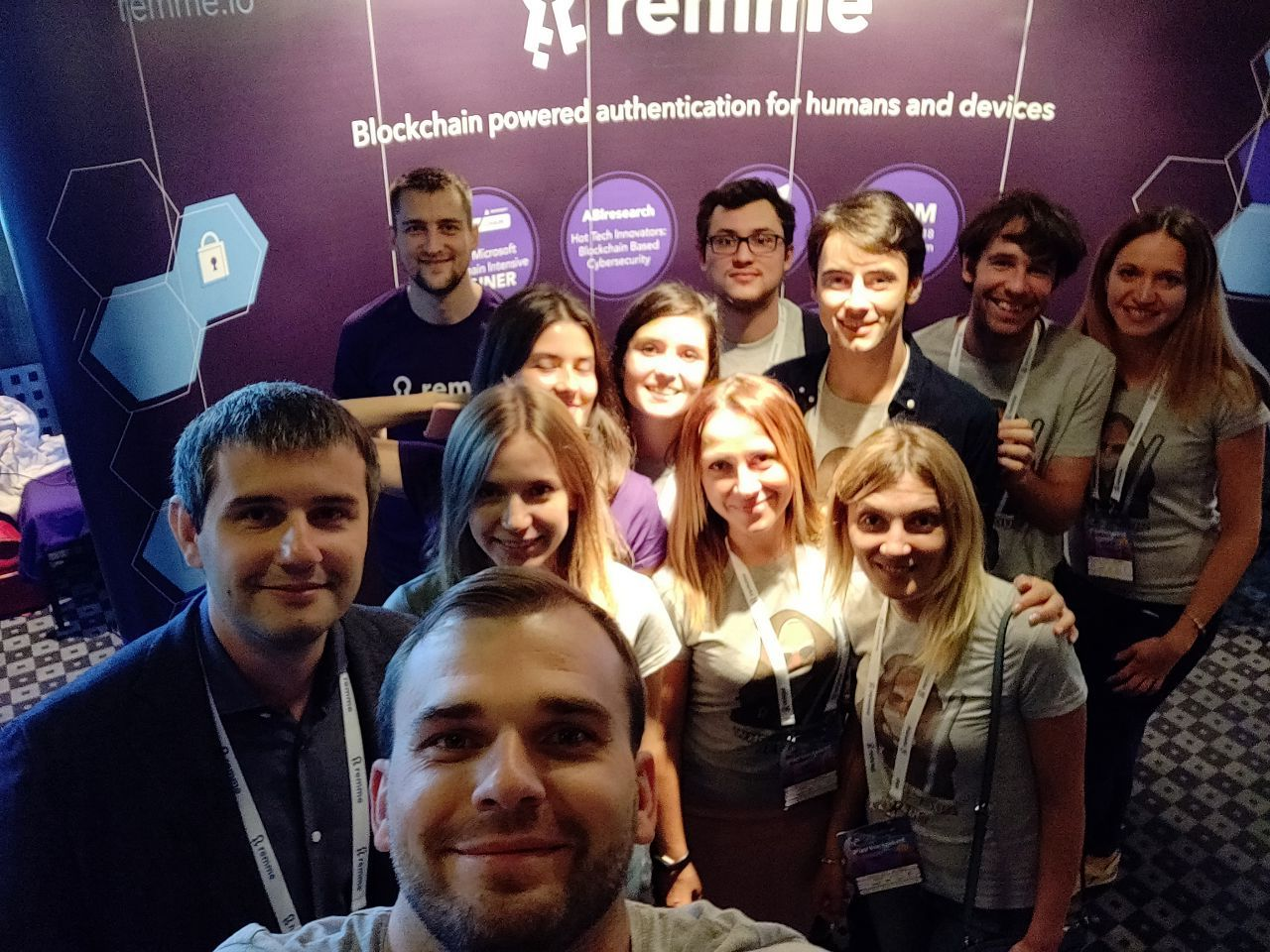 The Remme team in action at a conference.