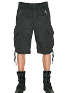 BALMAIN - LIGHT COTTON CANVAS CARGO SHORTS