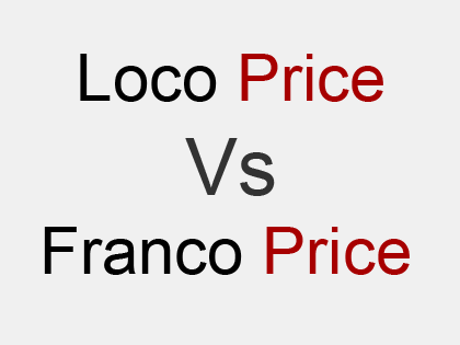 distinguish between loco and franco price