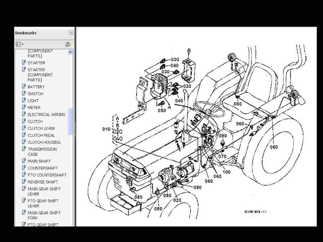 kubota l2500dt l2500f l2500 dt f tractor parts manuals for