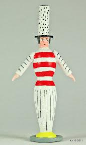 Erste von drei Figurinen für 'Das Weiße Fest', 1929 - farbig angelegt