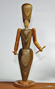 Dritte von 3 Figurinen, 1919 - naturbelassen