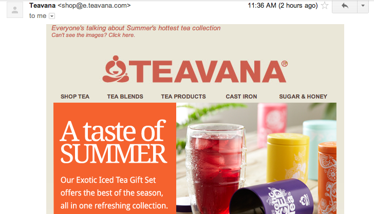 Email Ad Example