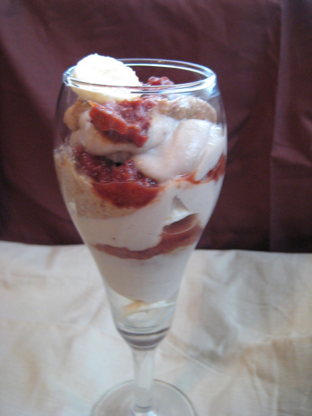 Elvis' Banana Nut Butter and Jam Parfait