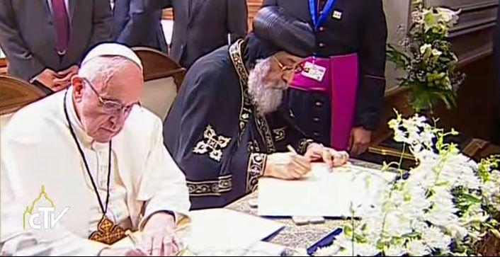 Tuyên Bố Chung của Đức Thánh Cha Phanxico và Đức Thượng Phụ Giáo Chủ Chính Thống Cốp-tíc Tawadros II