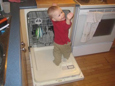 Rye on the dishwasher door