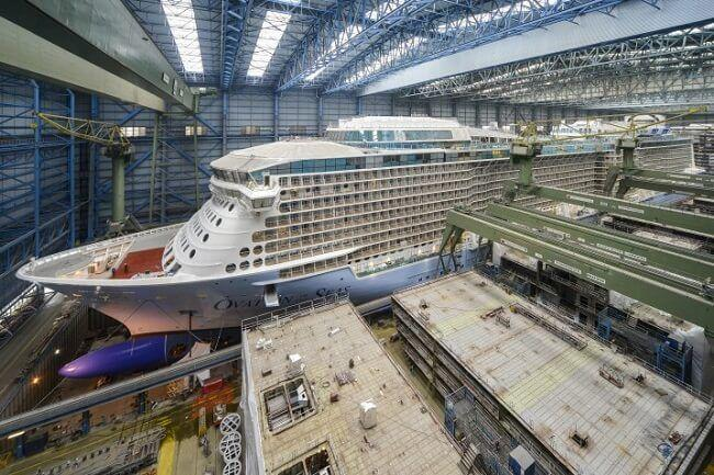 Ovation Of The Seas Ready to Leave Building Dock