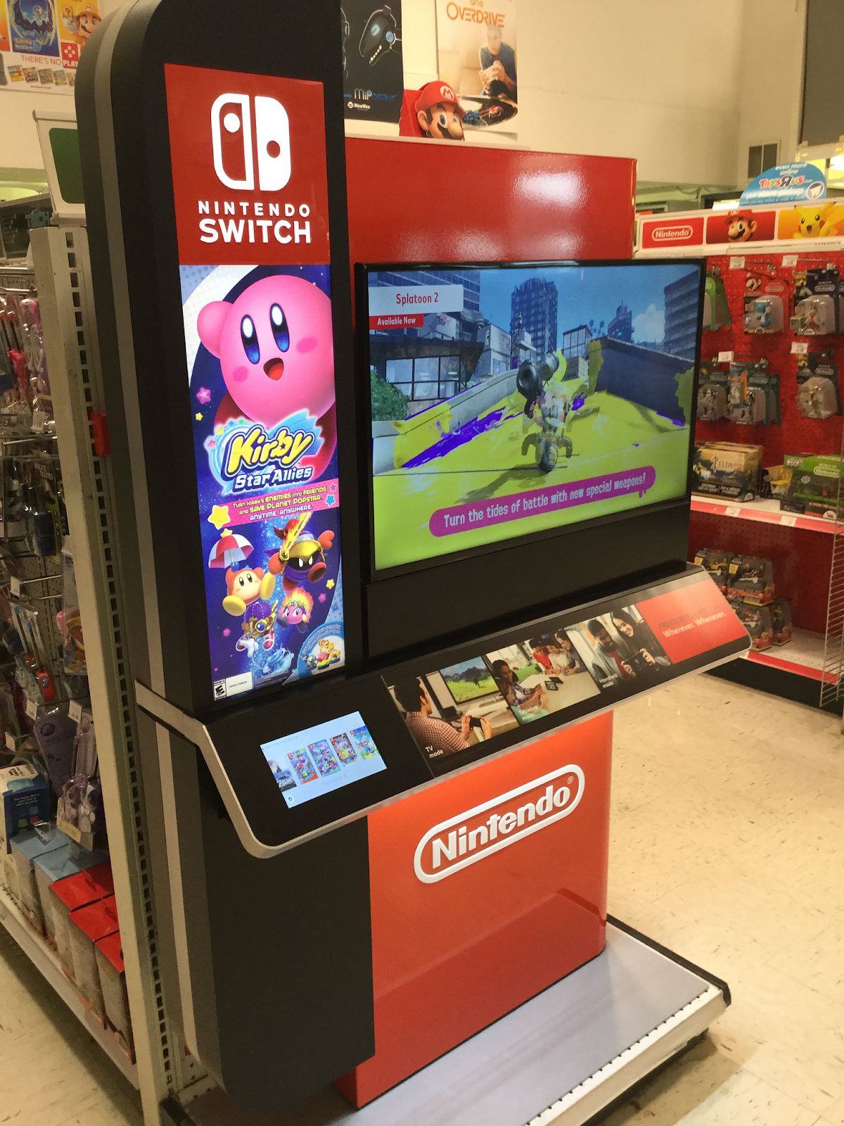 Nintendo Switch kiosk