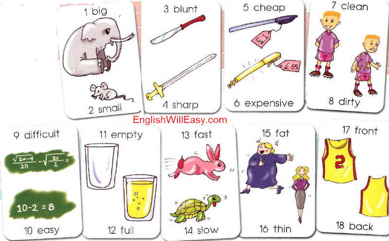 opposite words in english a to z pdf