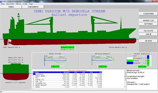 Phần mềm tính toán ổn định nguyên vẹn và sức bền dọc thân tàu Demobeng1