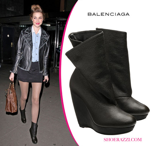 Whitney Port Shoes, Balenciaga Wedge Boot
