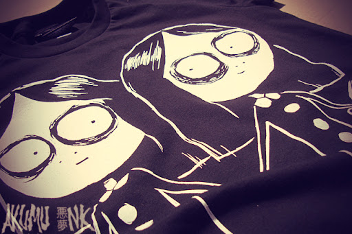 gorey tshirt, creepy twins