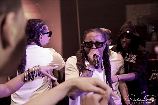Foto do Lil Wayne na festa de pré-estréia do Grammy 2011
