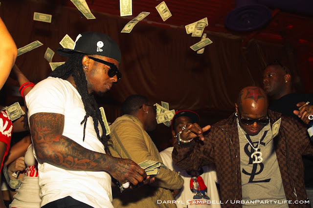 Tunechi curtindo o aniversário do Birdman no clube King Of Diamonds