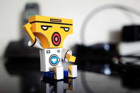 Underwear Man Paper Toy - Dai Fu Loou