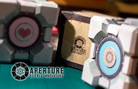 Portal 2 Storage Companion Cube Papercrafts