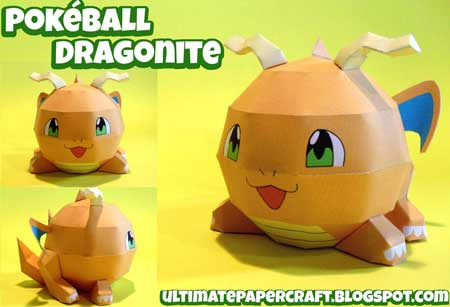 Pokeball Dragonite Papercraft