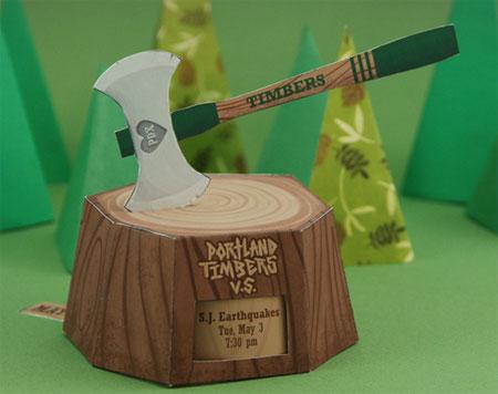 Portland Timbers Papercraft