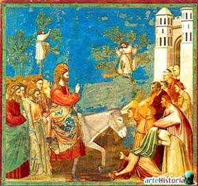 Giotto di Bondone (1305), Entrada de Jesús en Jerusalén