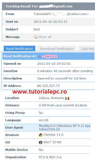 Confirmare de citire email spion