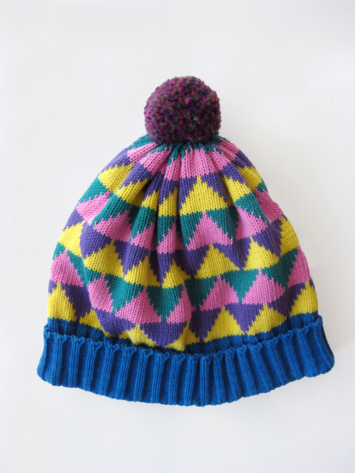 All for Everyone - Cerulean Multi Triangle Hat