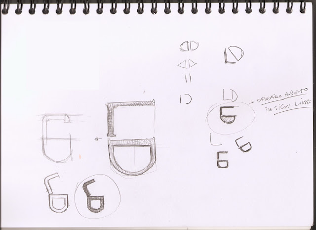 Terceiro esboço para o selo do projeto Design Livre.