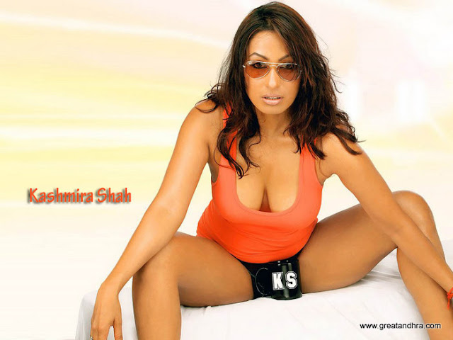 Kashmira Shah Hot Cleavage Exposing Photos