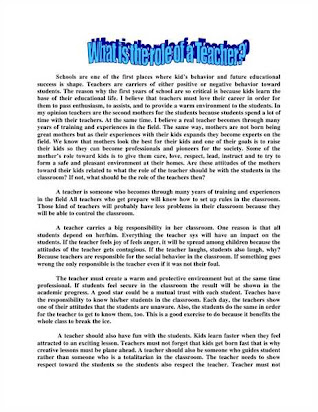 Private High School Admission Essay Examples  How To Make A Good Thesis Statement For An Essay also Persuasive Essay Samples High School My Best Teacher Essay Th Class Examples Thesis Statements Essays