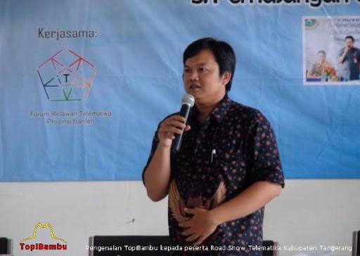 Pengenalan TopiBambu kepada perserta Road Show Telematika Kab Tangerang
