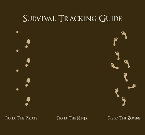 funny survival tracking poster