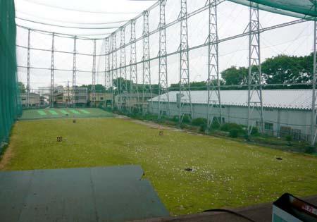 練習場2階からの眺め