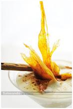 espuma de crema catalana