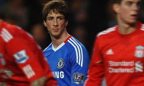 Torress in Chelsea uniform, Chelsea - Liverpool
