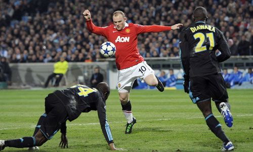 Rooney, Olympique Marseille  - Manchester United