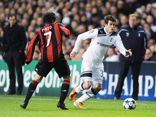 Bale with Pato, Tottenham HotSpur - AC Milan