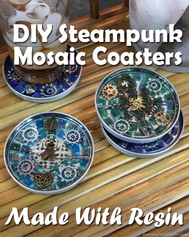 steampunk mosaic coasters, a craft that makes money