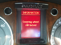 Steering wheel still locked