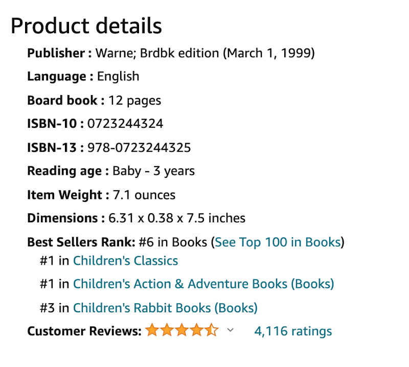 Best Sellers Rating