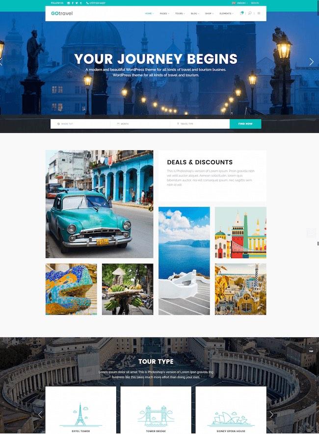 Best WordPress Instagram Theme GoTravel