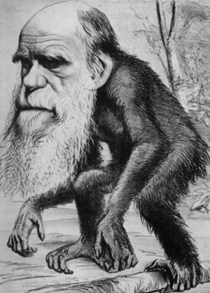 Charles Darwin ridiculizado