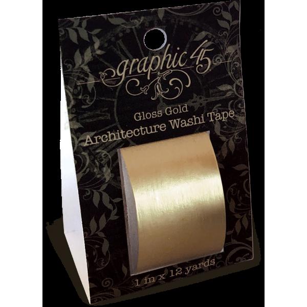 Architecture Washi Tape - Gloss Gold