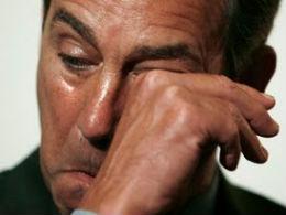 John Boehner cries