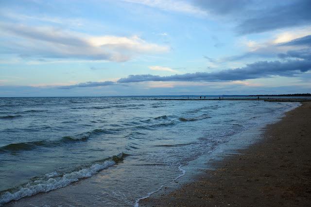 夕方のハービーベイの海の写真