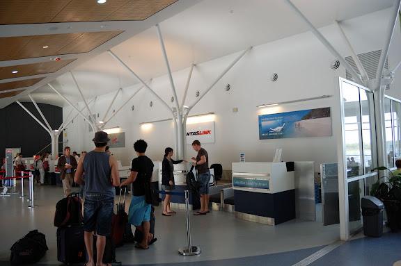 ハービーベイ空港受付カウンターの写真